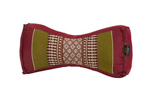 Cuscino chinese, design tradizionale verde e rosso, imbottitura 100% Kapok