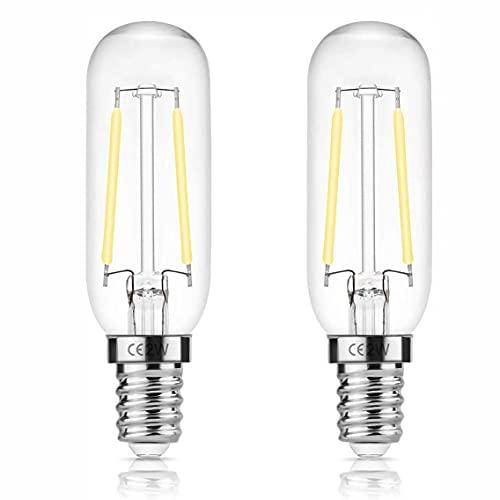 E14 T25 LED 2W spisfläkt, Edison glödlampa, 150LM, ej dimbar, apparatlampa för fläkt, 15W glödlampbyte, 2-pack
