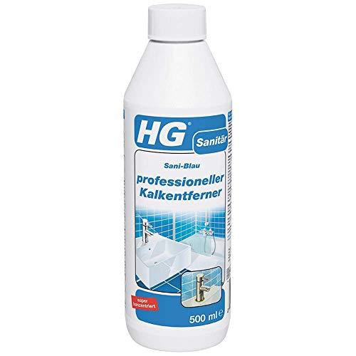 HG Professionelle Kalkentferner 500 ml - Kalklöser - Entfernung von Hartnäckigen Kalkablagerungen und Kalkstein