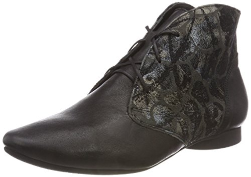 Think! Damen Guad_383299 Desert Boots, Schwarz (09 Sz/Kombi), 40 EU