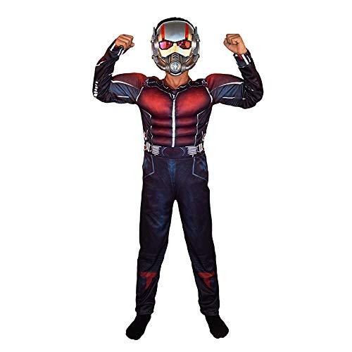 Petainer Disfraz Nios Ant Muscular Cosplay Costume con Mscara (110-120)