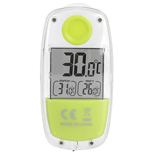 """Kuuleyn Thermographe de fenêtre, réponse Rapide Large Plage de Mesure Mini Ventouse Solaire LCD électrique numérique 24""""+ 59"""" Compteur de température pour Cuisine Salon"""