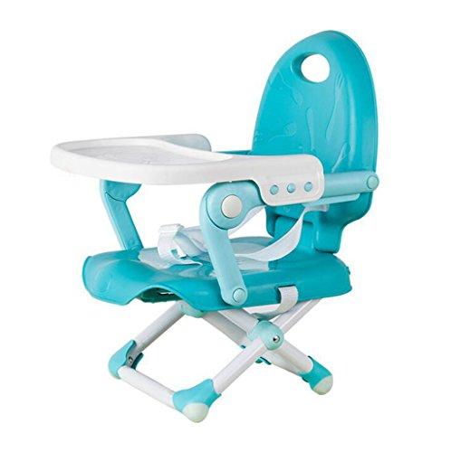 JBHURF Multifunktionale Faltbare Tragbare Baby Stuhl Einstellbare Hochstuhl Mehrzweck Feed Booster BB Hocker - Blau (Farbe : Blau, größe : Average code)