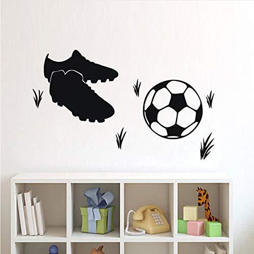 Wuyii 58 x 29 cm voetbalschoen voor kinderen en huisdecoratie, zelfklevend, van vinyl, zelfklevend