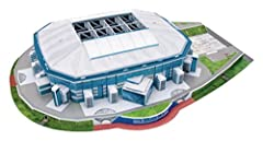 Create a fantastic 3D relica model stadium using 146 parts Finished item measures approx. 350mm x 470mm x 90mm No tools or glue required