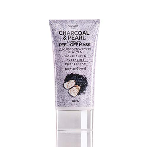 Charcoal & Pearl Luxury Anti Aging Sparkling Peel Off Mask – Clears Blackhead, Acne, Dirt &...