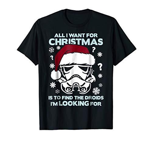 Star Wars Storm Trooper Droid Looking Christmas T-Shirt