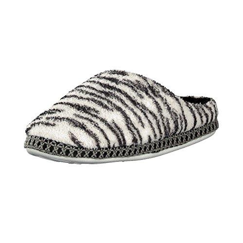 Brandsseller Hausschuhe im Zebra- oder Leopardendesign für Damen - Motiv: Zebra - Größe: 37/38
