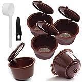 Filtro de café plástica cápsulas de café de Filtro Copas Cocina Recargable Filtro Reutilizable Cuchara Cepillo para Dolce Gusto Máquinas Brown