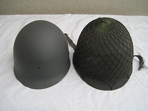 Original Stahlhelm M1+Netz US-Army Kevlar USA Armee Ähnl.2 Weltkrieg