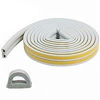 隙間テープ ドア 窓 気密テープ すきま風防止 すき間侵入防止シール 粘着力強い すきまテープ 防音 防風 防虫 花粉 ホコリ侵入防止 省エネ 冷暖房効率アップ PARAWEYSE D型タイプ 2.5m×2本 5m