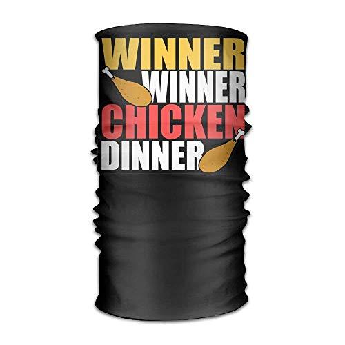 DearLord Winner Ganador Chicken Dinner Pubg Headwear para hombres y mujeres Yoga Deportes Viajes Entrenamiento Bandas Anchas para el Cuello, Bandana, Forro para Casco, Pasamontañas, Turban, Bufanda