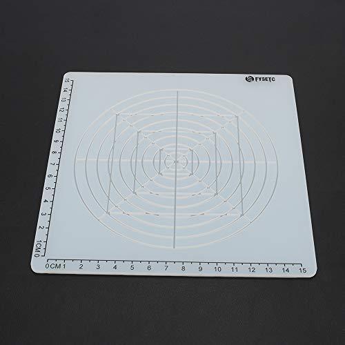 FYSETC - Lápiz de impresión 3D de silicona con diseño geométrico básico multiusos con tapas de dedos para plantillas de dibujo 3D, para niños y adultos, filamento PLA, transparente tipo D