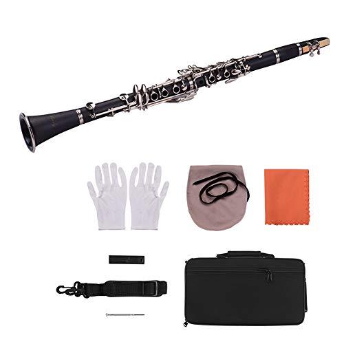 L Exquisite Elegante 17-Tasten-Holzklarinette mit B-Synthese, gepolstertem Gehäuse, Memory-Nadelfeder, Hochleistungsflüssigkeit, klassisches, Instrument