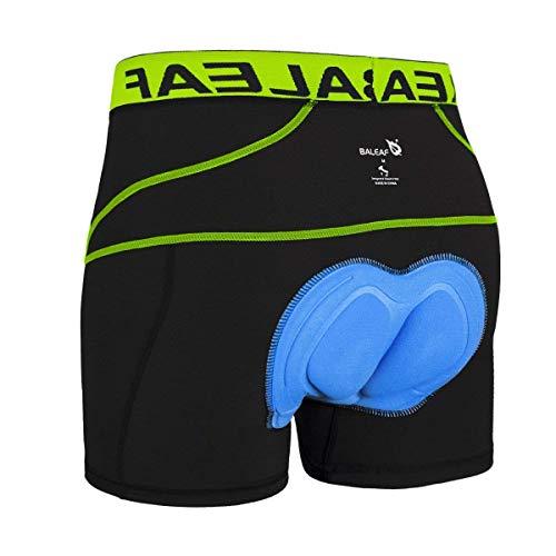 BALEAF Herren 3D Gepolsterte Radunterwäsche Shorts – Fahrrad Unterhose Fahrrad MTB Unterhose - Grün - Medium
