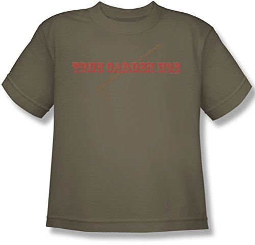 Funny Tees - Juventud Verdadero azada del jardín camiseta, X-Large, Safari Green