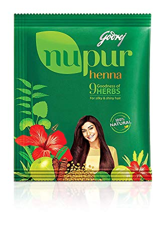 Godrej Nupur Henna Natural Mehndi for Hair Color with Goodness of 9 Herbs...
