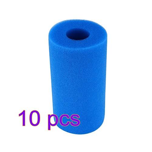 Verdelife Pool Filter Sponge, Zwembad Filter Foam, Zwembad Filter Foam Cartridge, 10 Stks Sponge Herbruikbaar Ontworpen voor Intex Filter Pompen 28604 en 29000, Zwembad Reiniging (10 Pack) B