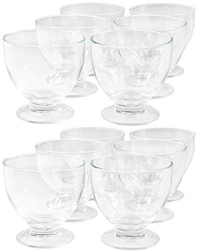 Wamat 12-Set Eisbecher Dessertschalen Eisschalen Eisschale Eisgläser EIS Glas 425 ml