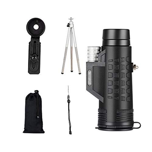 Telescopios Monoculares Telescopio de Observación de Aves Telescopio de Observación HD Revestimiento FMC Lente de Objetivo Grande de 42 mm se Puede Conectar a un Trípode Clip de Teléfono Viaje Port