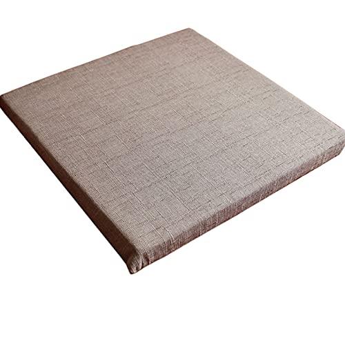 Cojín para banco Tatami Mat esponja antideslizante 40 x 160 cm rectangular 2/3/4 plazas cojines para muebles de la bahía de la ventana jardín vacaciones al aire libre (gris claro, 40 x 40 x 3 cm)
