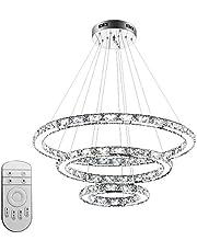 96W LED kroonluchter plafondlamp design kristal hanglamp 3 ringen hanglamp Φ: 30cm + 50cm + 70cm dimbaar 2800K - 6500 K kroonluchterlamp voor hall hotel eetkamer woonkamer slaapkamer