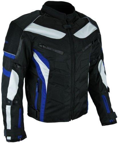 HEYBERRY Textil Motorrad Jacke Motorradjacke Schwarz Blau Gr. L