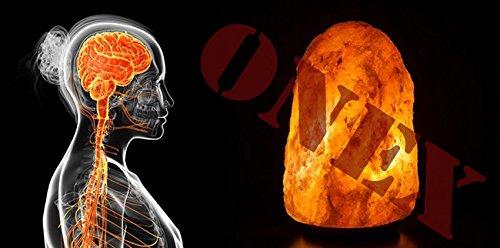 ONEX Himalayano Stupefacente Lampada di Sale Cristallo Rosa Lampada di Sale Curativo Radiazioni Ionizzanti Lampadine Migliore qualità Notte Lampada da Scrivania - Arancione/Rosa, 7-10 kg