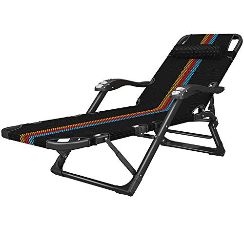 Klappstuhl LVZAIXI Schaukelstühle Metall Stuhl Büro Liege Picknick Terrasse Wohnzimmer Garten Liegestühle Camping Relaxstuhl (Farbe : A)