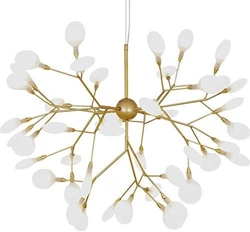 xxw Candelabros de cristal de luz nórdica, lámpara creativa para el hogar posmoderna de la sala de estar, lámpara decorativa simple para el comedor