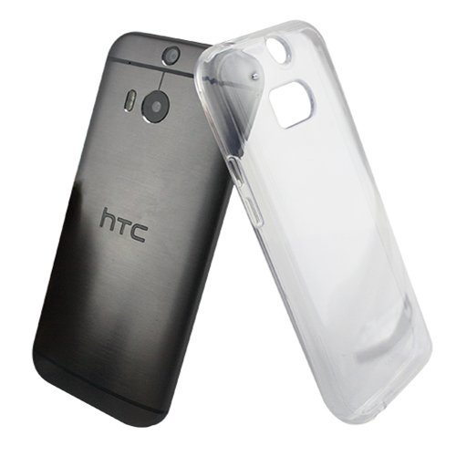 LUVVITT [Clearview] HTC One M8 Case Clear View | Scratch-Resistant Hybrid Slim Transparent Case/Cover (Retail Packaging) - Clear
