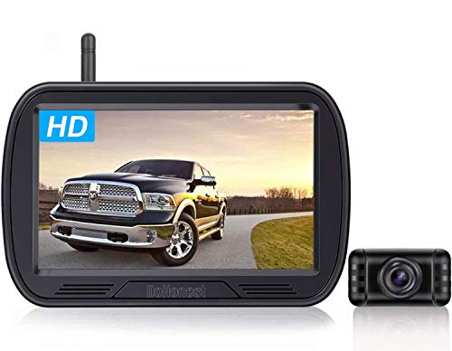 DoHonest HD Digital Wireless Backup Camera System 5 Inch TFT Monitor for Trucks,Cars,SUVs,Pickups,Vans,Campers Front/Rear View Camera Super Night Vision Waterproof Easy Installation - V25