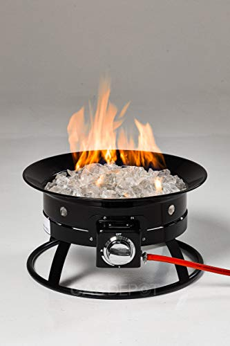 Glow Warm 12 kw Outdoor Portable Gas Fire Pit (Home and Camping) (With Cover)