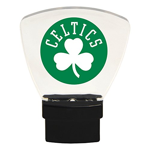 Authentic Street Signs NBA Officially Licensed-LED Night Light-Super Energy Efficient-Prime Power Saving 0.5 watt-Plug in-Great Sports Fan Gift for Adults-Babies-Kids Room (Boston Celtics)