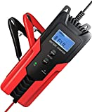 DYHQQ Cargador y mantenedor de batería Inteligente de 6 V / 12 V, 6 amperios, Completamente automático, 6 etapas, Carga Lenta con Abrazaderas para automóvil, Motocicleta