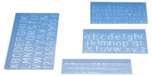 Wedo 07012 - Regla de letras (5, 10 y dos de 20 mm, 4 unidades)