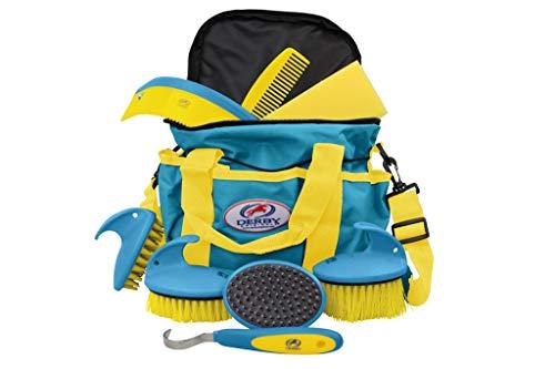 Derby Premium Comfort Kit de toilettage 9 pièces Bleu/jaune