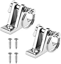 Leadrise 2 Pack Bimini Top Boat Hardware 90°Deck Hinge with Quick Release Pin Screws, 316 Stainless Steel