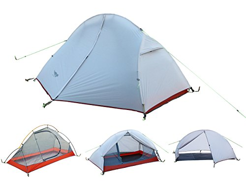 Luxe Tempo Ultralight 1 Person Solo Backpacking Tents (White)