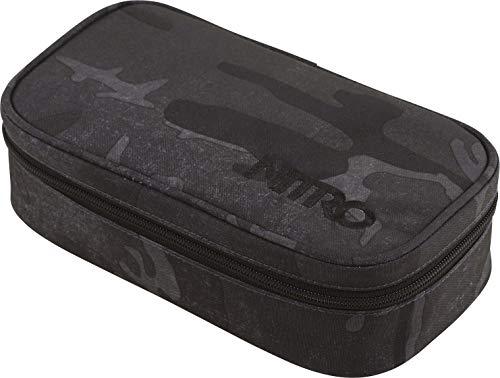 Nitro Pencil Case XL Inkl. Geo Dreieick & Stundenplan, Federmäppchen, Schlampermäppchen, Faulenzer Box, Federmappe, Stifte Etui, Forged Camo