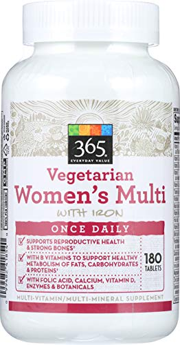 365 Everyday Value, Vegetarian Women's Multi with Iron, 180 ct