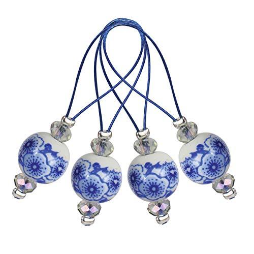 KNITPRO KP11256 ZOONI: Perlenstichmarkierungen: blühend blau, sortiert, Assorted