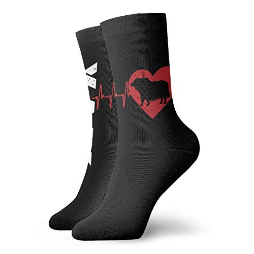 Not Applicable Anzug-Socken,Business Socken,High Performance Tennissocken,Sport/Sneaker Socken,Heartbeat Yak Moisture Control Laufsocken Langlebige Atmungsaktive Trainingssocken