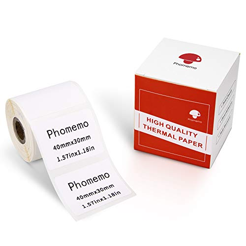 Phomemo Thermoetikettenpapier- Multifunktionales selbstklebendes Etikett,Adressetikett,1.57