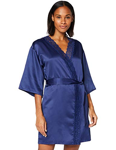 Marca Amazon - Iris & Lilly Bata Kimono de Satén