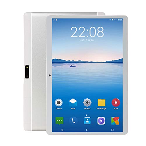 Penen 10 inch Android Tablet PC, 5G Wi-Fi, 4GB RAM,64GB ROM, Octa -Core Processor, IPS HD Display, 3G Phablet with Dual Sim Card Slots, WiFi, Bluetooth, GPS, Tablets for Kids,M1 (Silver)