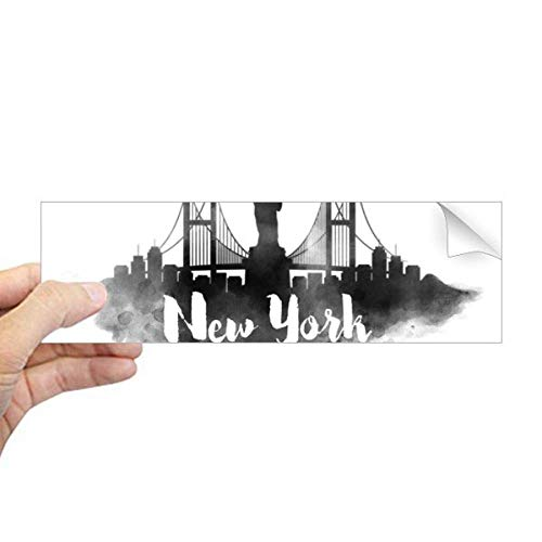 DIYthinker New York Amerika LandMark Inkt Stad Schilderij Rechthoek Bumper Sticker Notebook Window Decal
