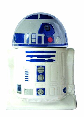 Star Wars 21824 R2-D2 Eierbecher mit Salzstreuer in Keramik-in Geschenkverpackung, 8 x 8 x 10 cm