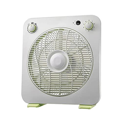 Ventilador de la caja portátil 4 Ventilador, ventilador de escritorio eléctrico con temporizador 2H, ventiladores tranquilos para dormitorio, sala de estar, blanco, perilla de control ( Size : 10in )