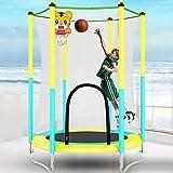 XSLY 1.5M de los hijos de cubierta Trampolín ejercicio - Teniendo 100Kg, con el baloncesto Stand, neto, niños están más...